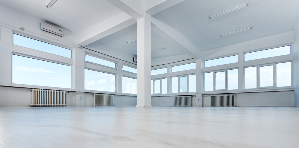 An empty office space ready for occupancy
